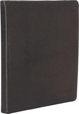 Heritage Colombian Leather iPad Portfolio with Stylus Black - Heritage Electronic Cases