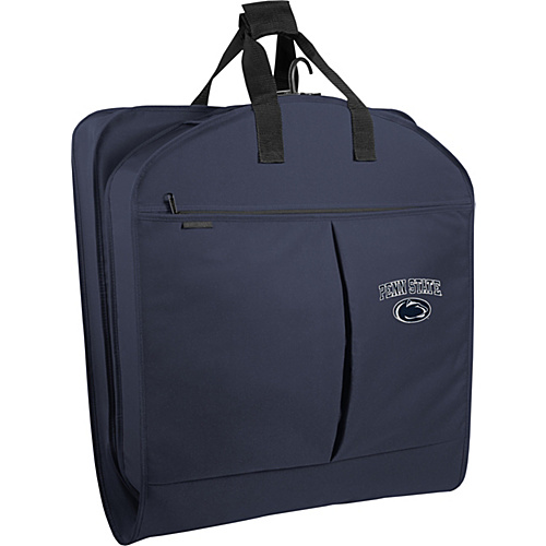 "Wally Bags Penn State Nittany Lions 40"" Suit Length Garment Bag with Two Pockets Navy - Wally Bags Garment Bags"