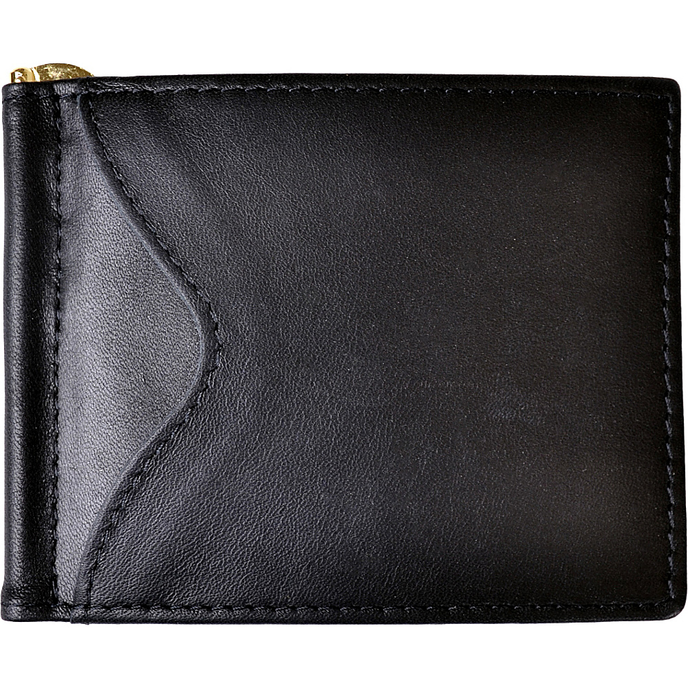 Royce Leather RFID Blocking Money Clip Wallet Black - Royce Leather Men's Wallets