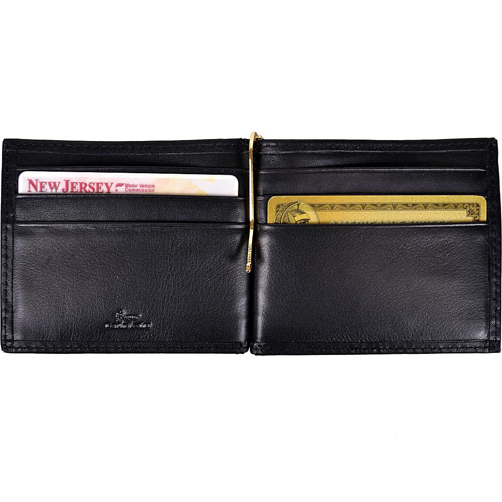 Royce Leather RFID Blocking Money Clip Wallet Black - Royce Leather Men's Wallets