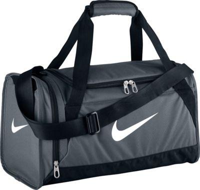 Nike Brasilia 6 Small Duffel Flint Grey/Black/White - Nike Gym Duffels