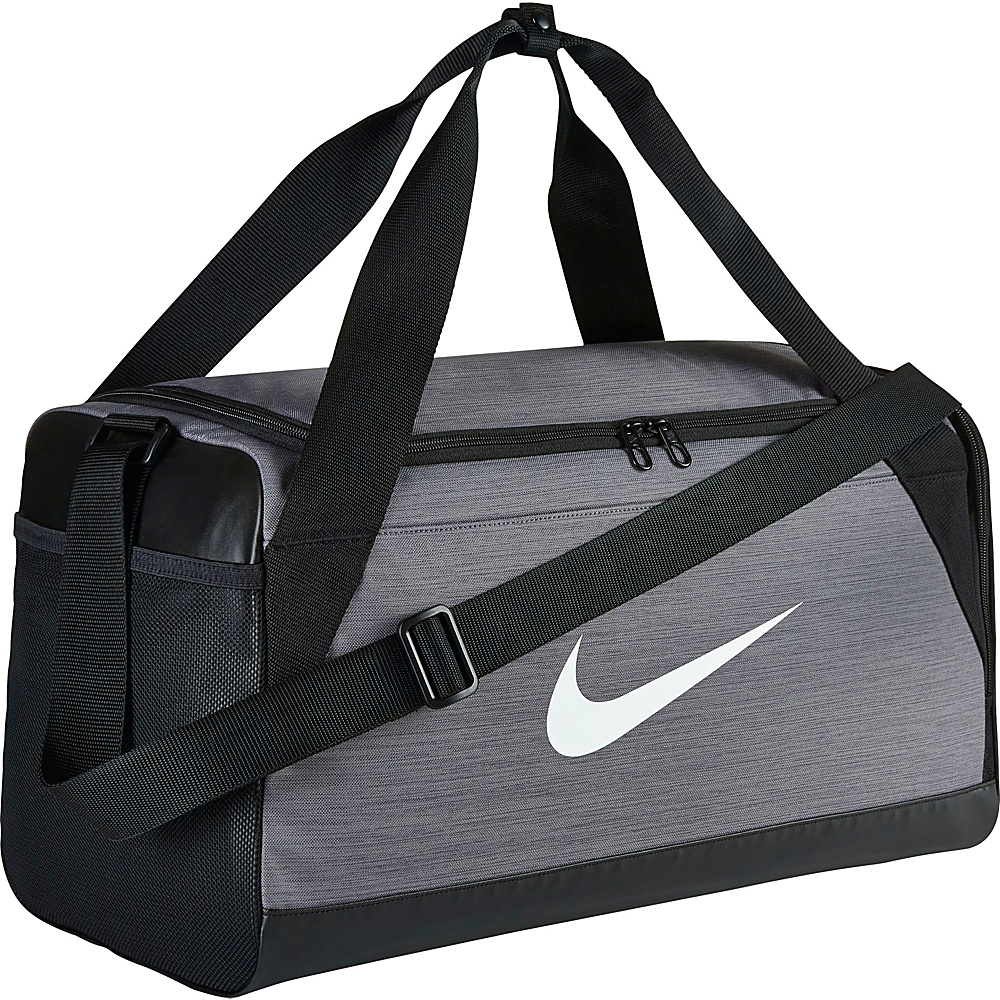 Nike Brasilia 6 Small Duffel Flint Grey Black White Nike Gym Duffels