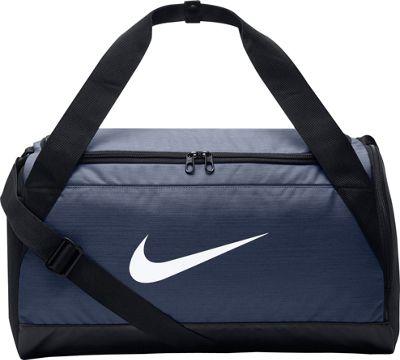 Nike Brasilia 6 Small Duffel Midnight Navy/Black/White - Nike Gym Duffels