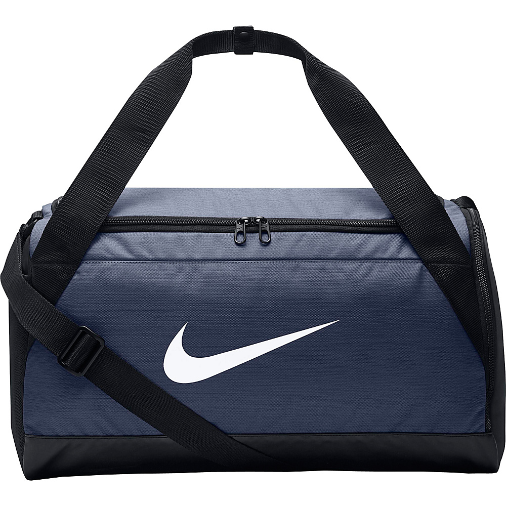 Nike Brasilia 6 Small Duffel Midnight Navy Black White Nike Gym Duffels