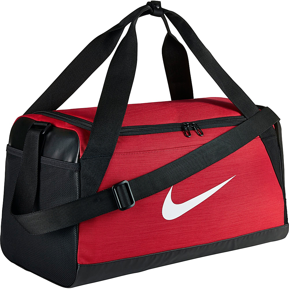 Nike Brasilia 6 Small Duffel University Red Black White Nike Gym Duffels