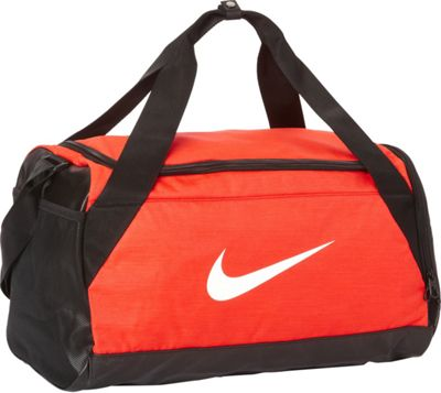 Nike Brasilia 6 Small Duffel Max Orange/Black/White - Nike Gym Duffels