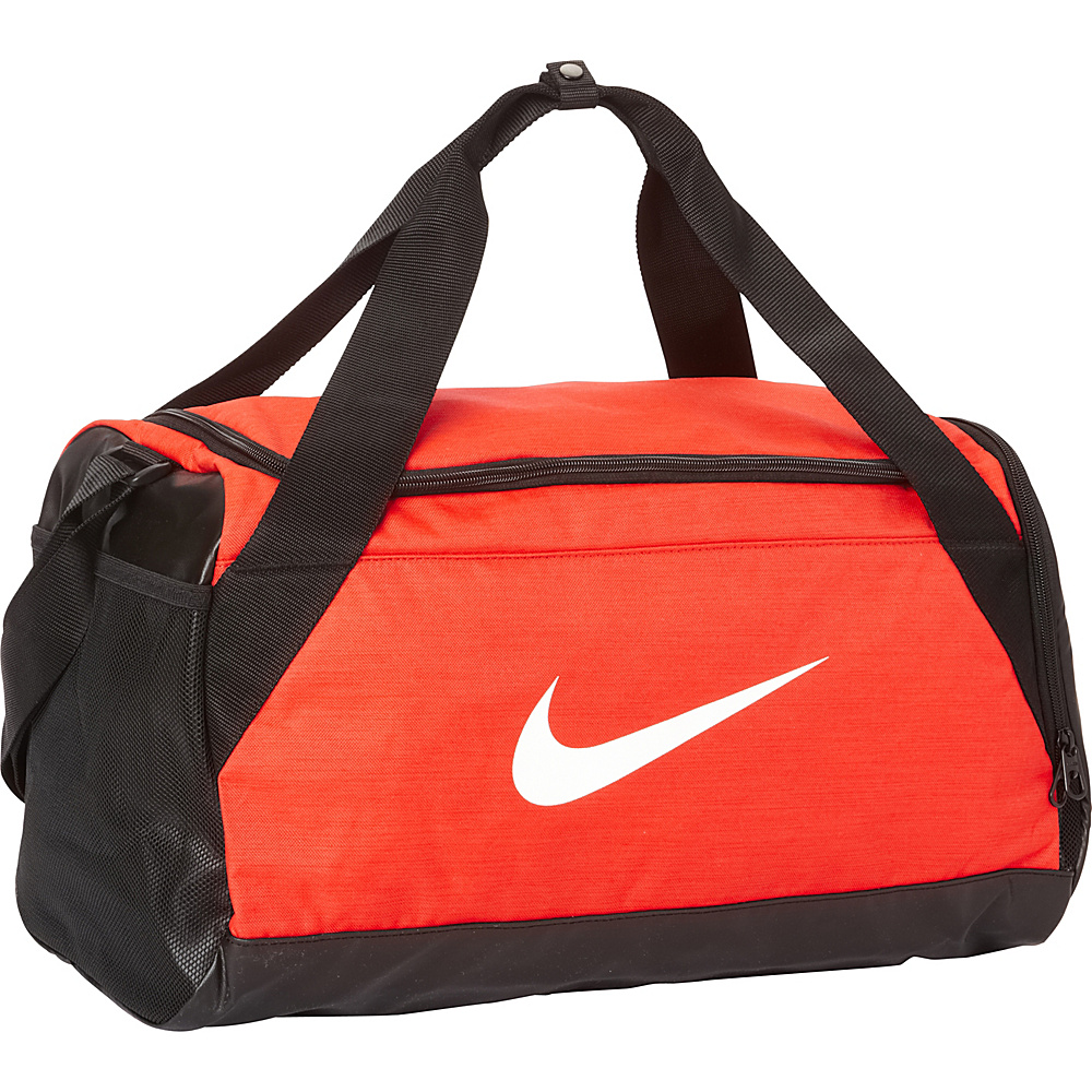 Nike Brasilia 6 Small Duffel Max Orange Black White Nike Gym Duffels