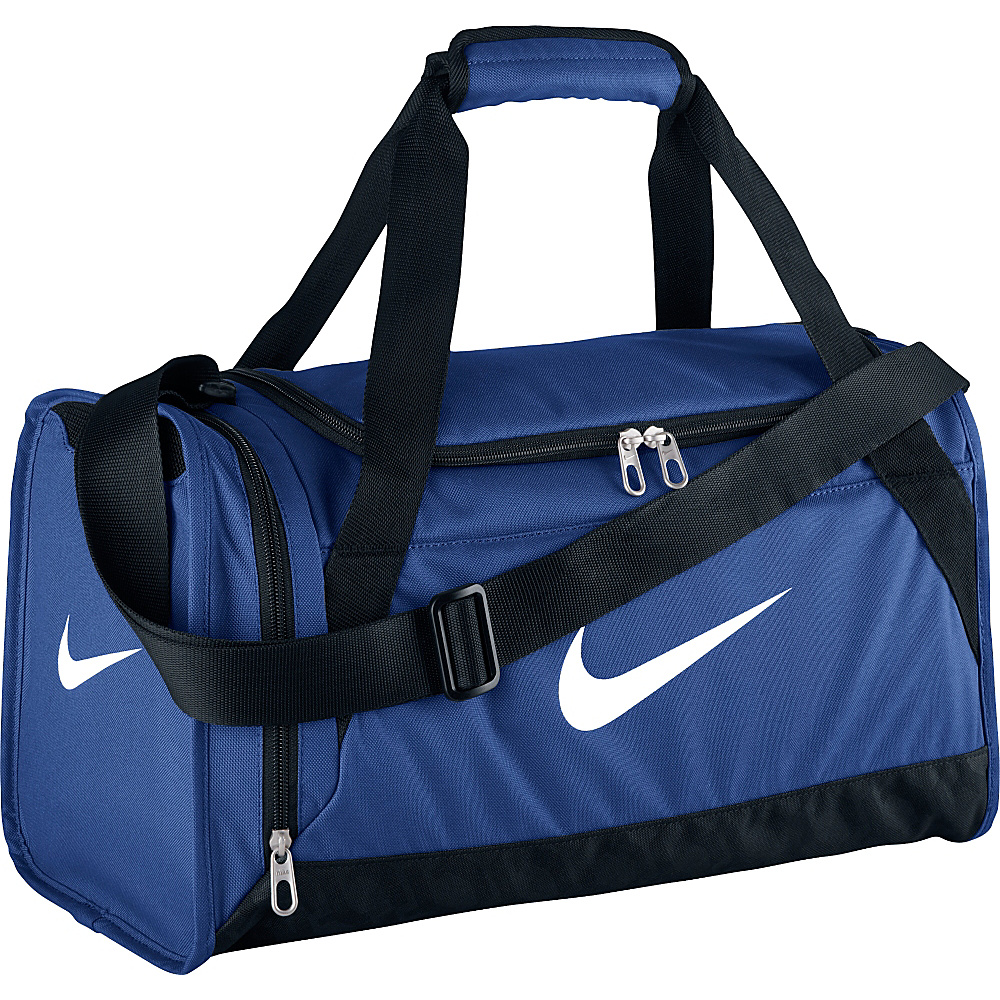 Nike Brasilia 6 Small Duffel Game Royal Black White Nike Gym Duffels