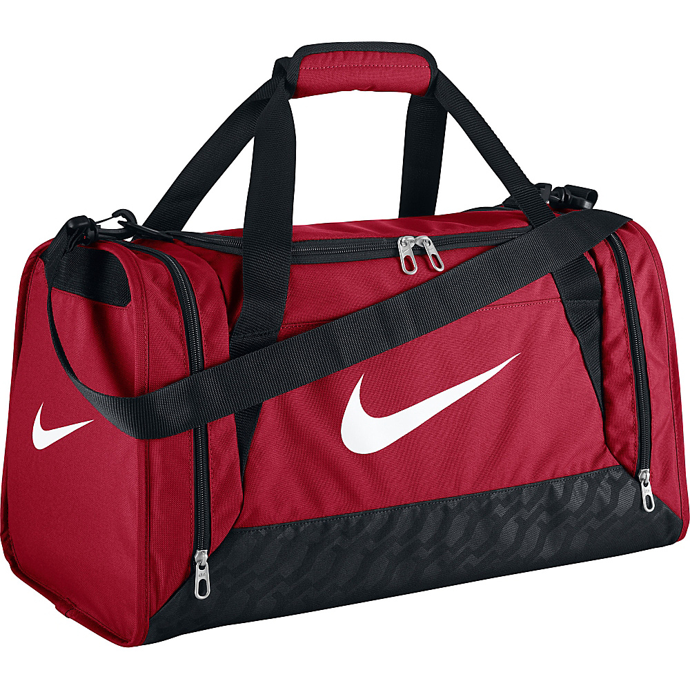 Nike Brasilia 6 Small Duffel Gym Red Black White Nike Gym Duffels