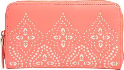 Vera Bradley Laser-Cut Accordion Wallet Coral - Vera Bradley Ladies Clutch Wallets