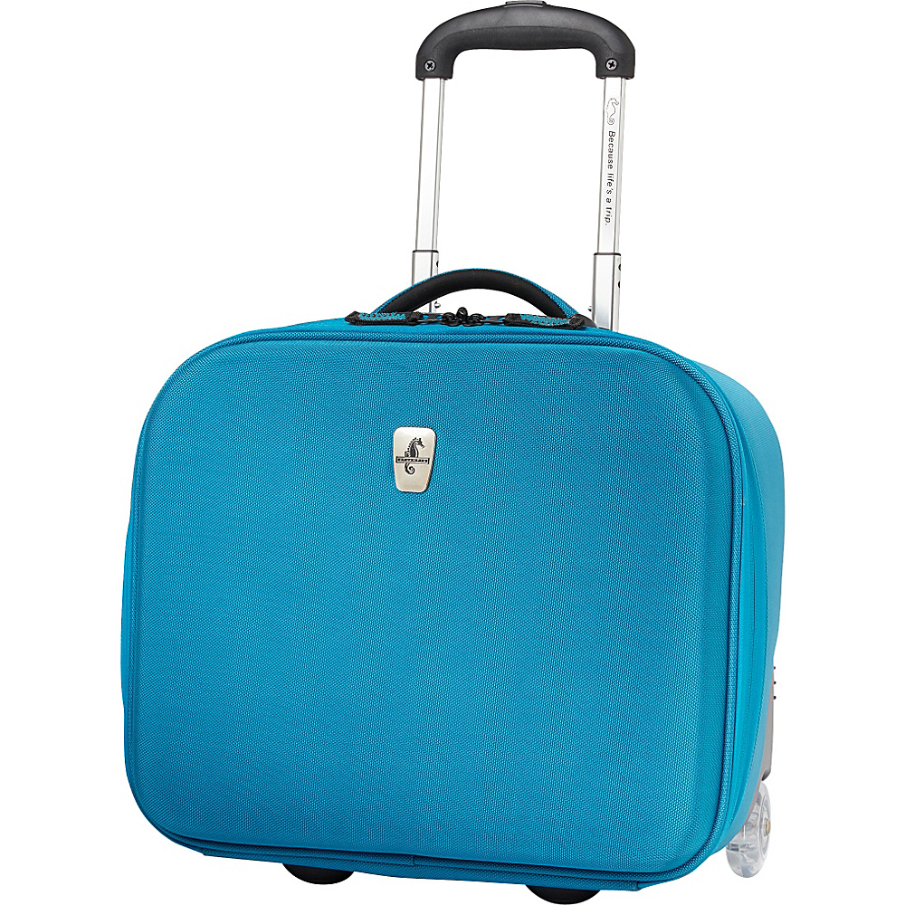 Atlantic Debut Rolling Tote Turquoise - Atlantic Luggage Totes and Satchels