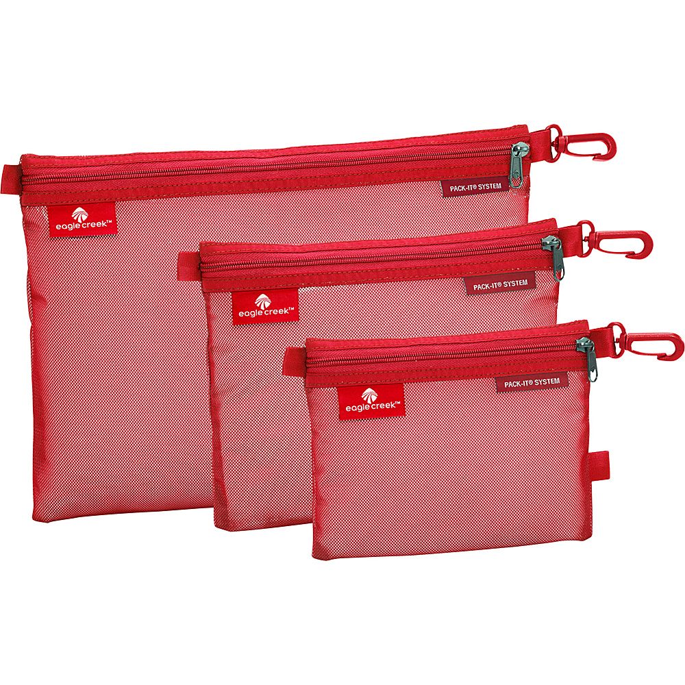 Eagle Creek Pack-It Sac Set Red Fire - Eagle Creek Travel Organizers - Travel Accessories, Travel Organizers