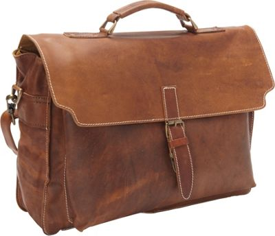 Sharo Leather Bags Soft Leather Messenger Bag and Brief Brown - Sharo Leather Bags Non-Wheeled Business Cases