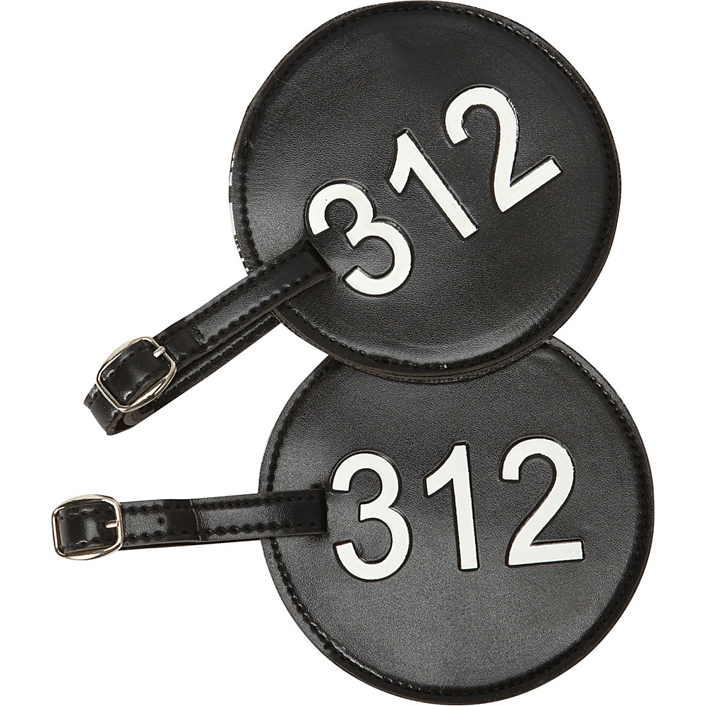 pb travel Number Luggage Tag 312 - Set of 2 Black - pb travel Luggage Accessories