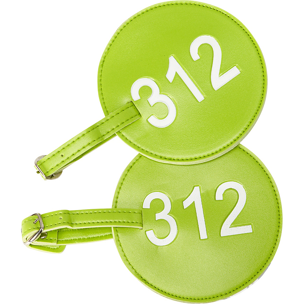 pb travel Number Luggage Tag 312 Set of 2 Green pb travel Luggage Accessories