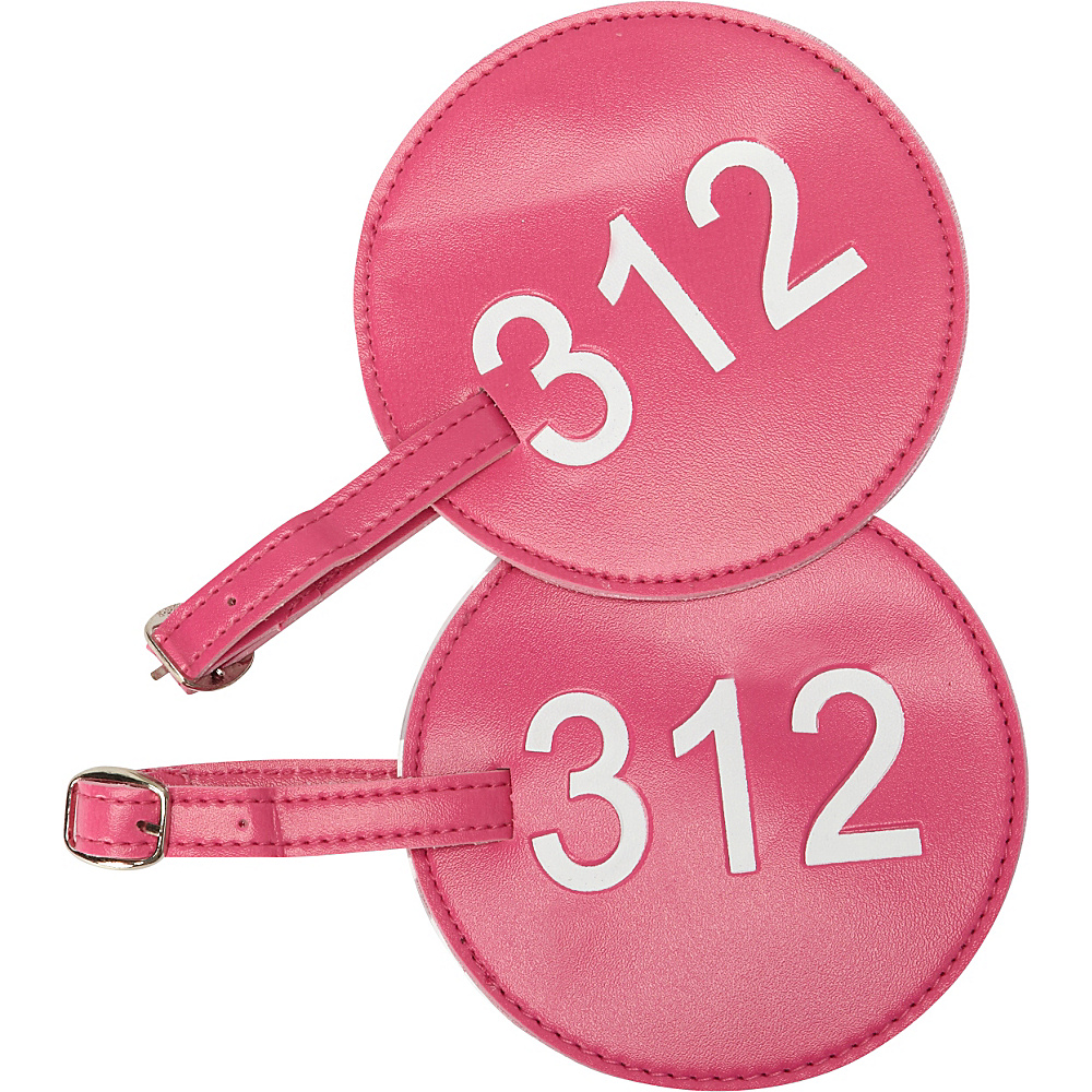 pb travel Number Luggage Tag 312 Set of 2 Fuchsia pb travel Luggage Accessories