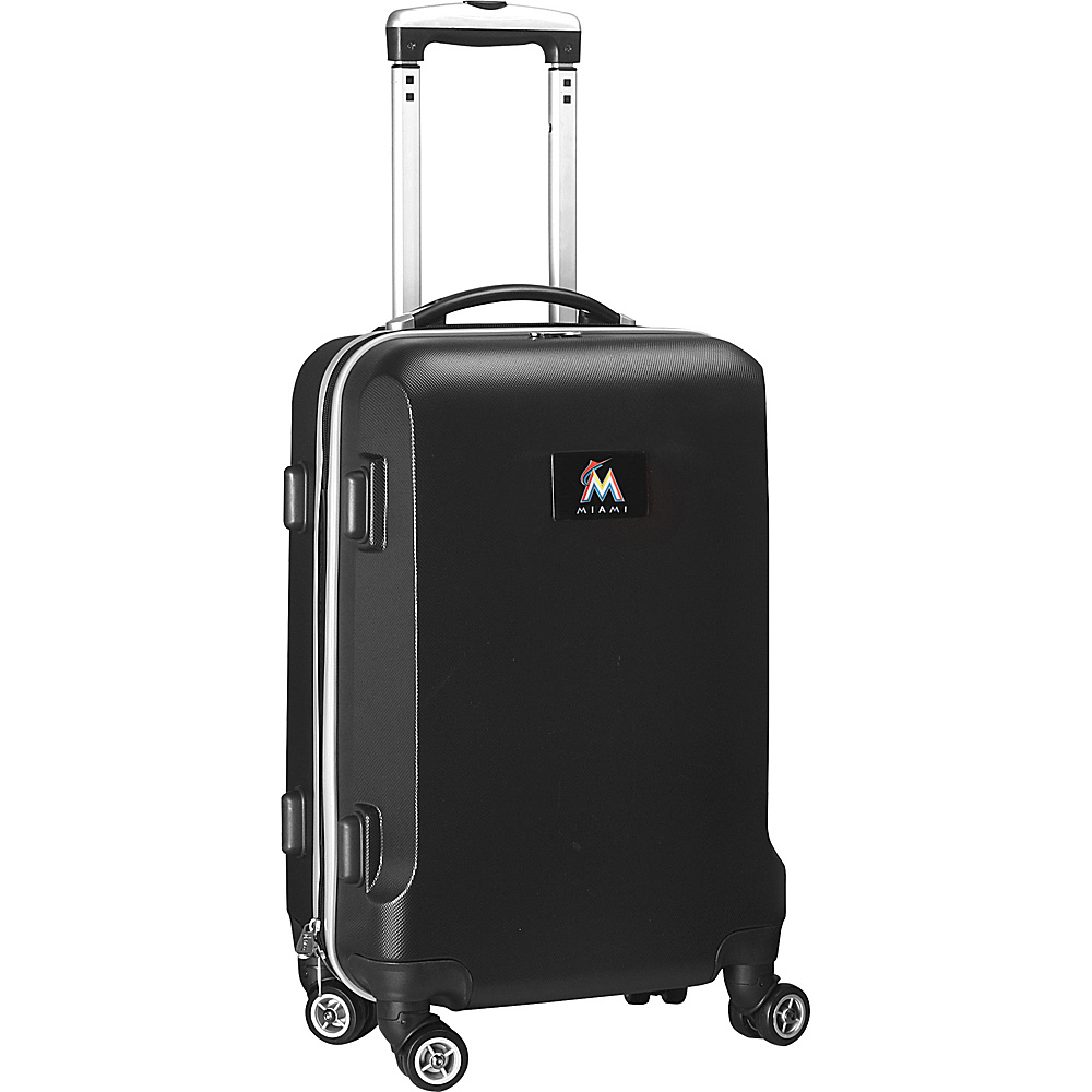 Denco Sports Luggage MLB 20 Domestic Carry-On Black Miami Marlins - Denco Sports Luggage Hardside Carry-On - Luggage, Hardside Carry-On