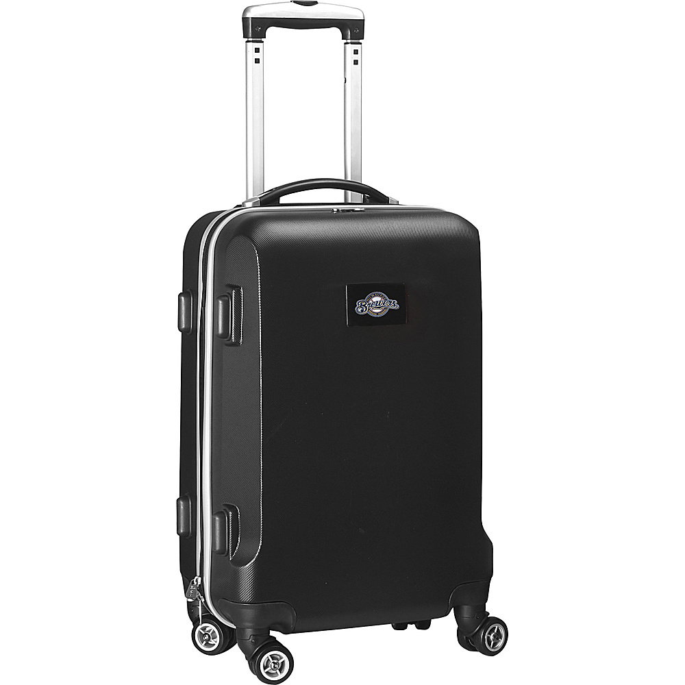 Denco Sports Luggage MLB 20 Domestic Carry-On Black Milwaukee Brewers - Denco Sports Luggage Hardside Carry-On - Luggage, Hardside Carry-On