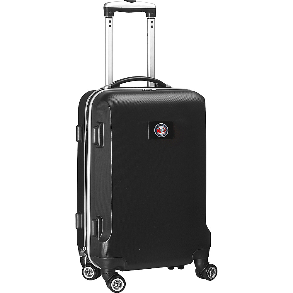 Denco Sports Luggage MLB 20 Domestic Carry-On Black Minnesota Twins - Denco Sports Luggage Hardside Carry-On - Luggage, Hardside Carry-On