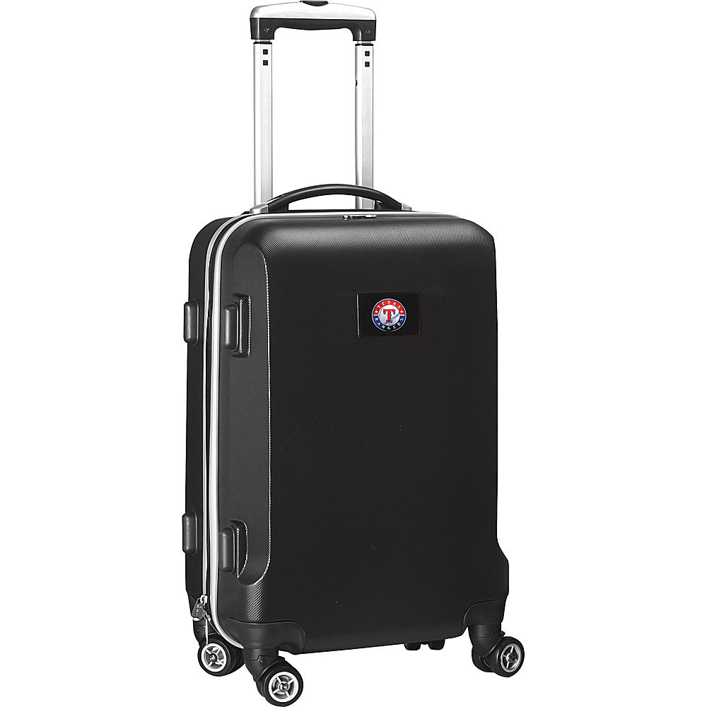 Denco Sports Luggage MLB 20 Domestic Carry-On Black Texas Rangers - Denco Sports Luggage Hardside Carry-On - Luggage, Hardside Carry-On