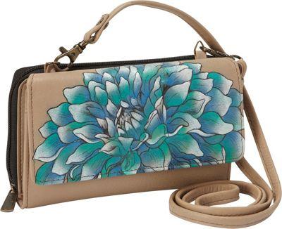 Anuschka Convertible Wallet On A String Dreamy Dahlias - Anuschka Women's Wallets