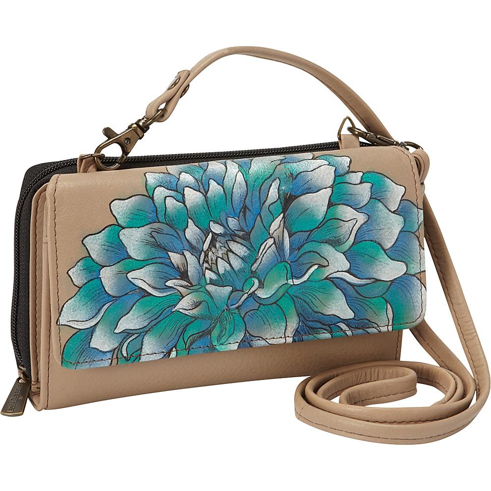 Anuschka Convertible Wallet On A String Dreamy Dahlias Anuschka Women s Wallets