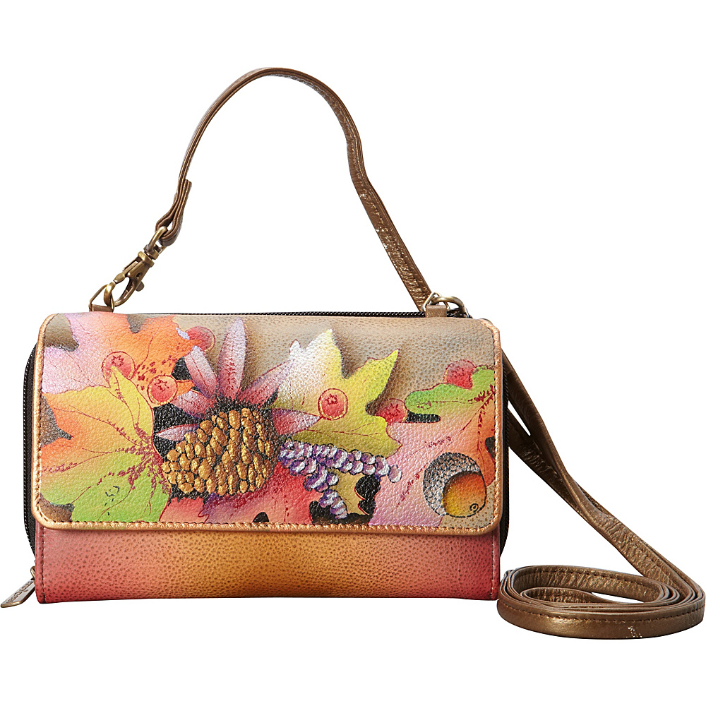 Anuschka Convertible Wallet On A String Fall Fiesta Anuschka Women s Wallets
