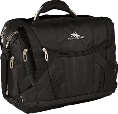 High Sierra XBT TSA Messenger Black - High Sierra Messenger Bags