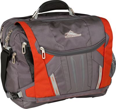 High Sierra XBT TSA Messenger Charcoal, Lava, Black, Silver - High Sierra Messenger Bags