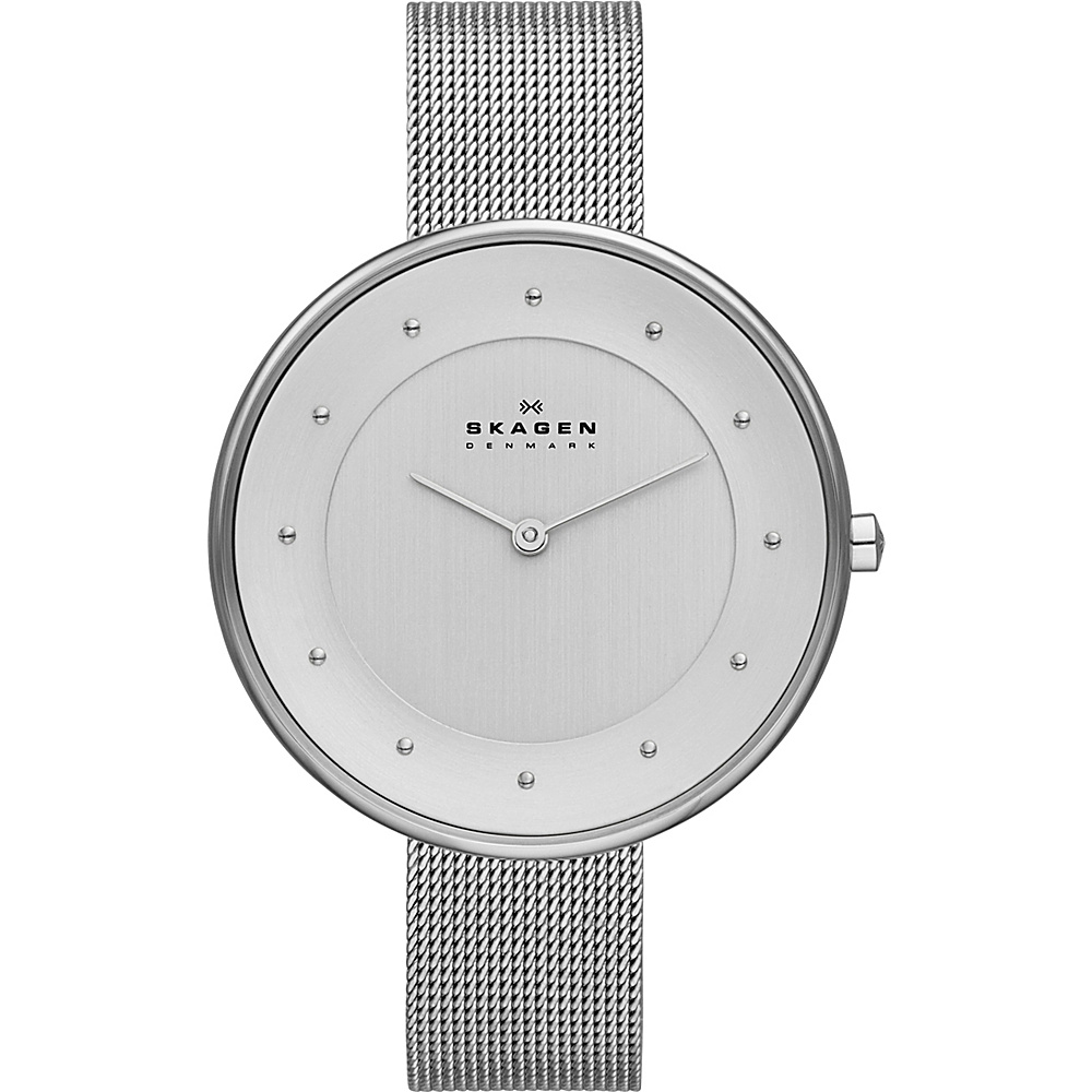 Skagen Klassik Womens Two-Hand Woven Steel Watch Silver - Skagen Watches