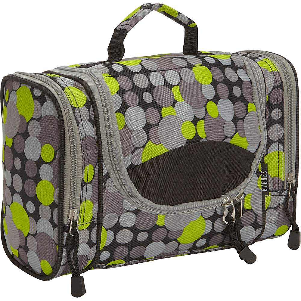 Everest Deluxe Toiletry Bag Yellow Gray Dot Everest Toiletry Kits