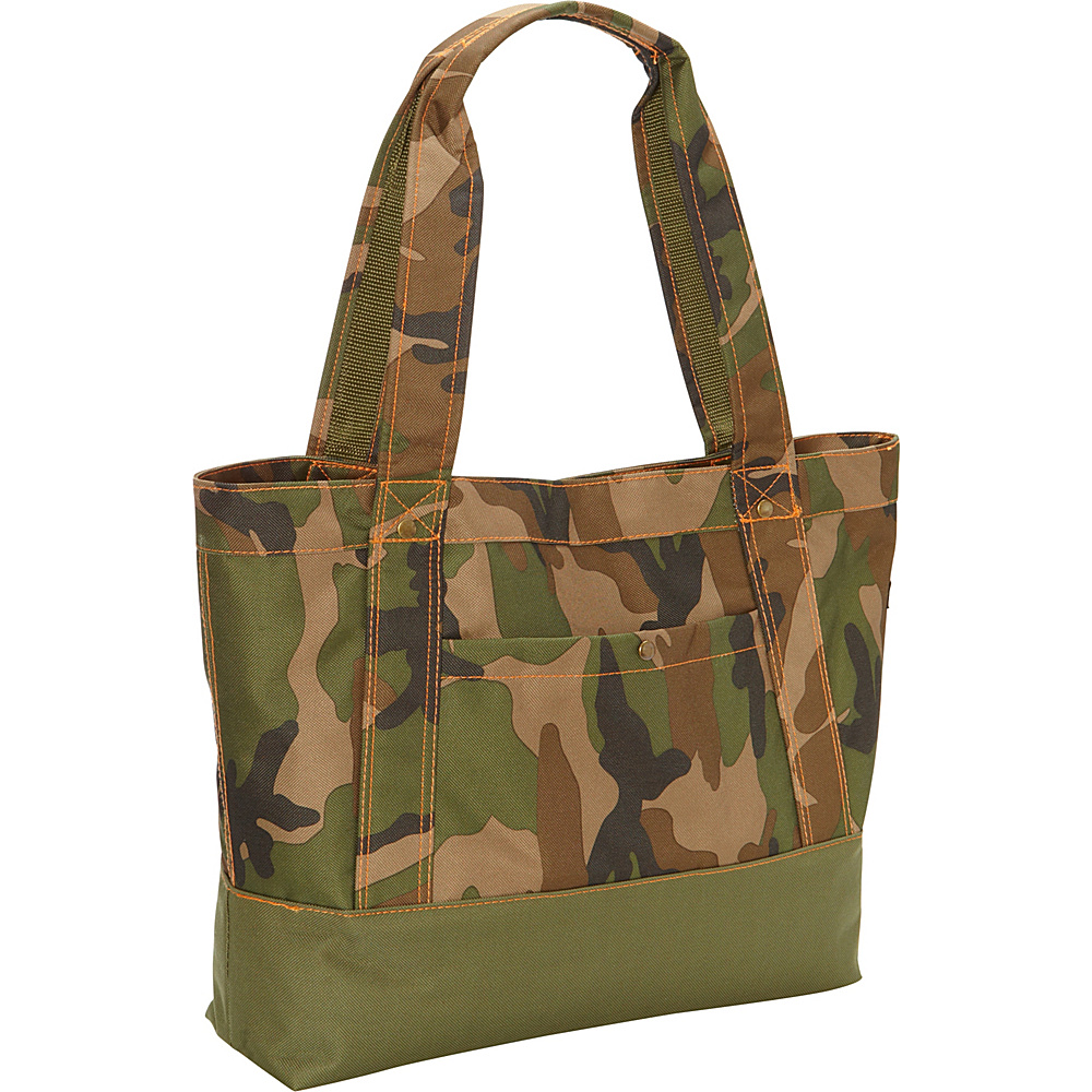 Everest Woodland Camo Tablet Tote Bag Woodland Camo - Everest All-Purpose Totes - Travel Accessories, All-Purpose Totes
