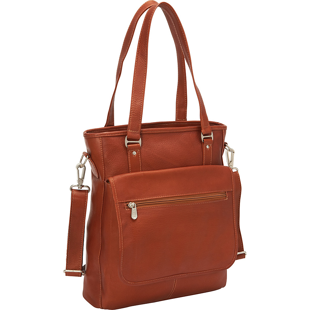 Piel Carry-All Tote Saddle - Piel Womens Business Bags - Work Bags & Briefcases, Women's Business Bags