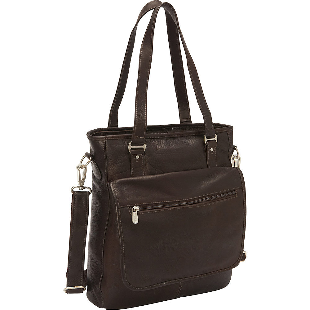 Piel Carry-All Tote Chocolate - Piel Womens Business Bags - Work Bags & Briefcases, Women's Business Bags