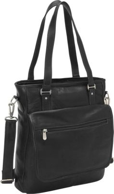 Piel Carry-All Tote Black - Piel Ladies' Business