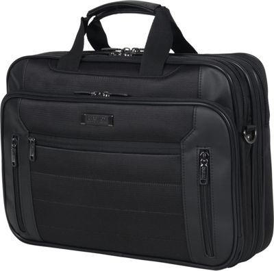 Kenneth Cole Reaction An Easy Decision Laptop Bag Black - Kenneth Cole Reaction Non-Wheeled Business Cases