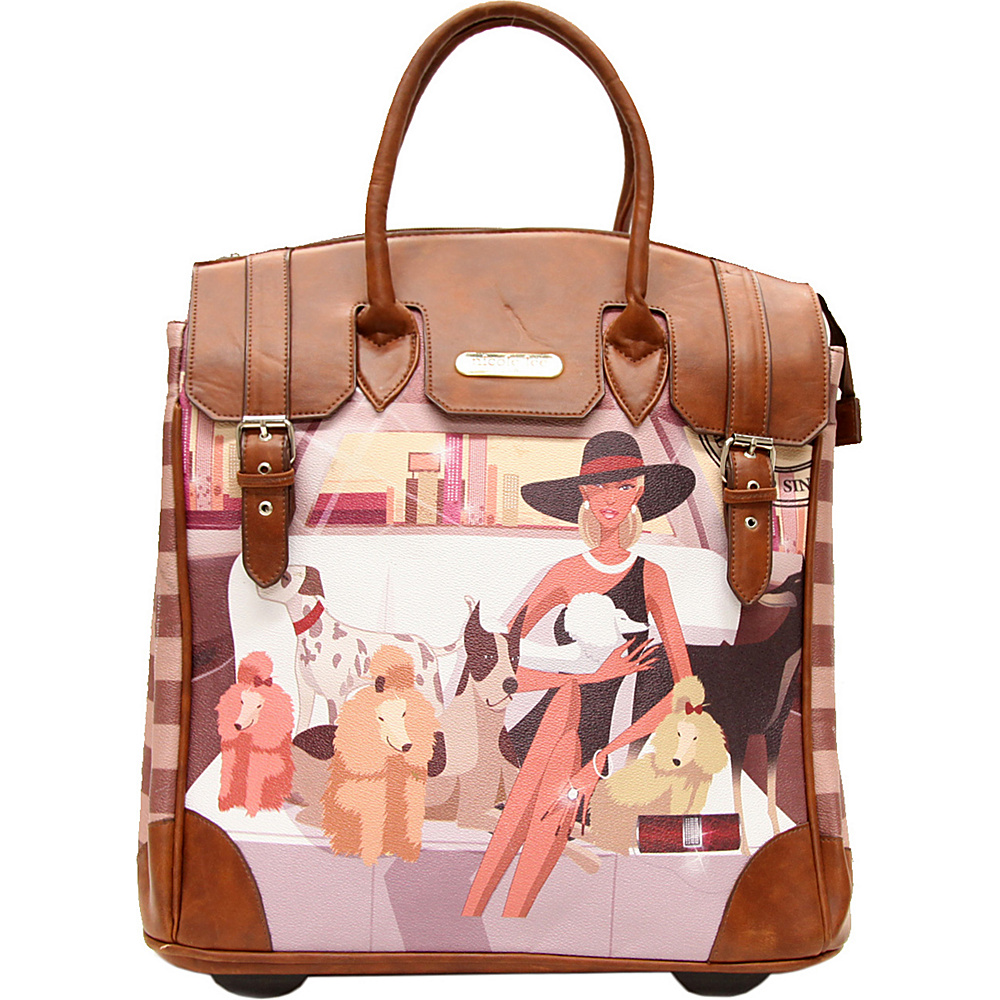 Nicole Lee Fiona Rolling Business Tote Special Print Edition LAUREN Nicole Lee Wheeled Business Cases