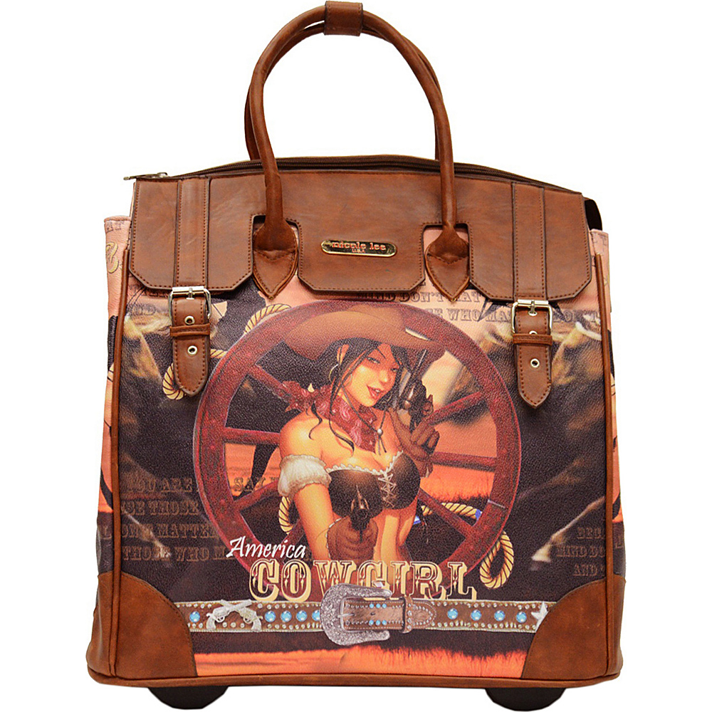 Nicole Lee Fiona Rolling Business Tote Special Print Edition Cowgirl Wheel Nicole Lee Wheeled Business Cases