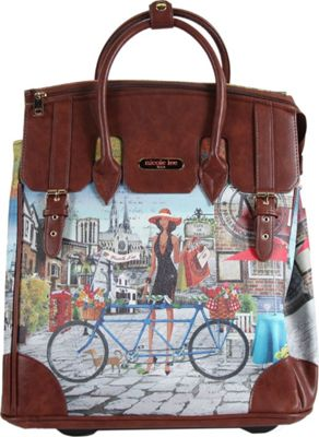Nicole Lee Fiona Rolling Business Tote, Special Print Edition Bicycle - Nicole Lee Wheeled Business Cases