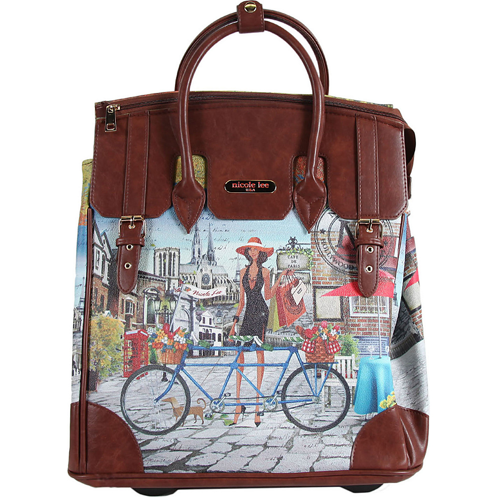 Nicole Lee Fiona Rolling Business Tote Special Print Edition Bicycle Nicole Lee Wheeled Business Cases