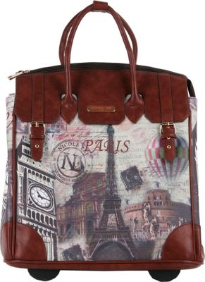 Nicole Lee Fiona Rolling Business Tote, Special Print Edition Paris - Nicole Lee Wheeled Business Cases