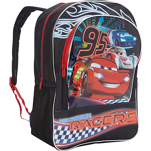 Disney Cars Backpack Black - Disney School & Day Hiking Backpacks