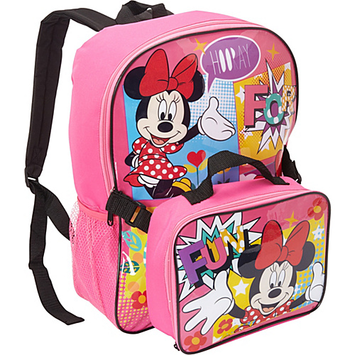 Disney Minnie Mouse Backpack with Lunch Box Pink - Disney School & Day Hiking Backpacks