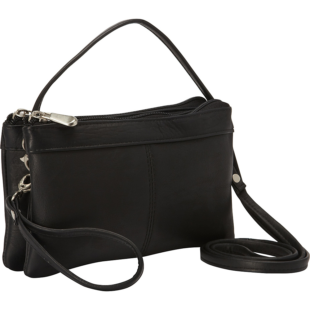 Le Donne Leather Kyla Clutch Black - Le Donne Leather Leather Handbags - Handbags, Leather Handbags