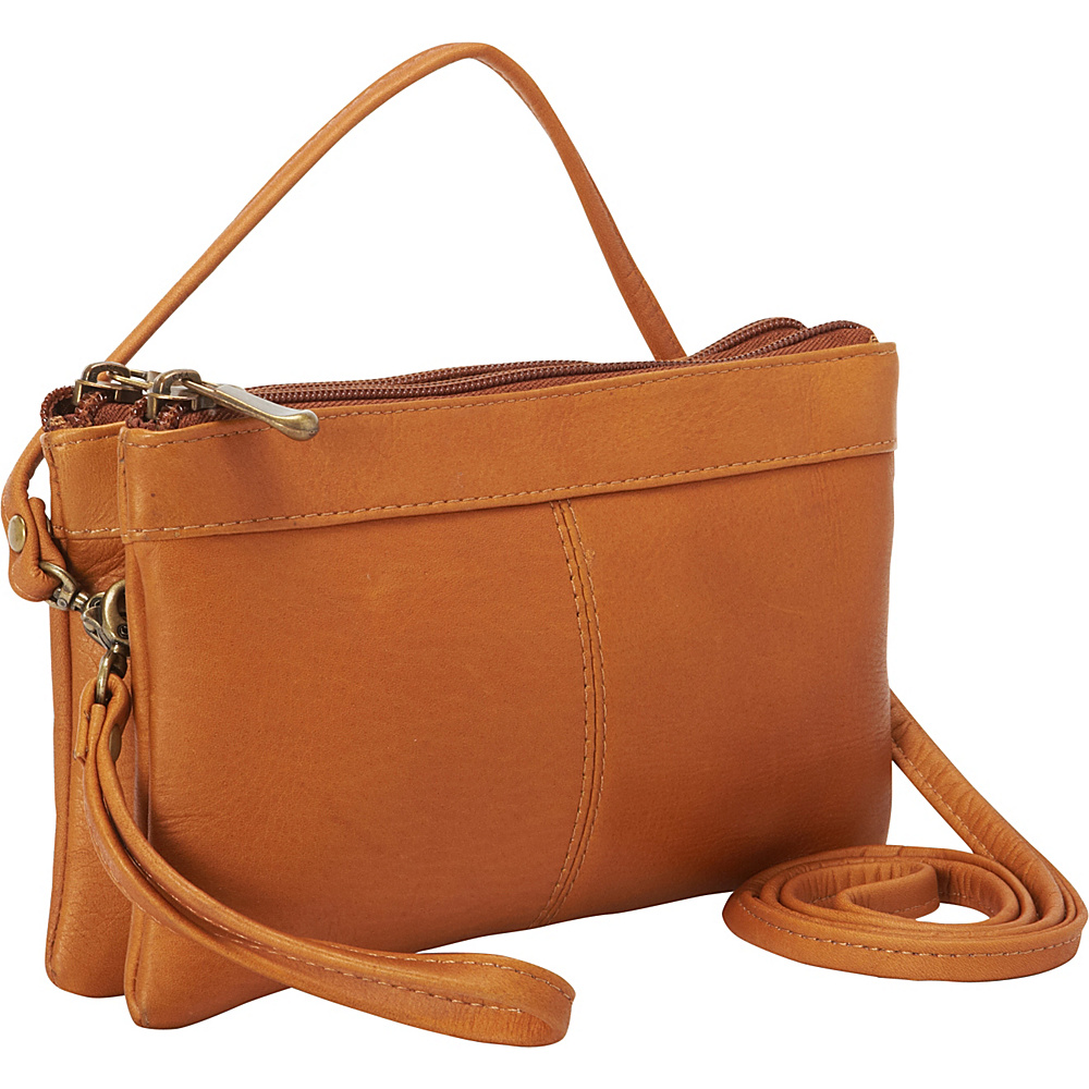 Le Donne Leather Kyla Clutch Tan - Le Donne Leather Leather Handbags - Handbags, Leather Handbags