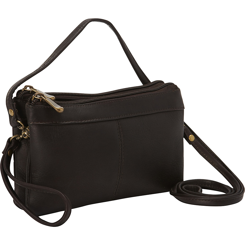 Le Donne Leather Kyla Clutch Cafe - Le Donne Leather Leather Handbags - Handbags, Leather Handbags