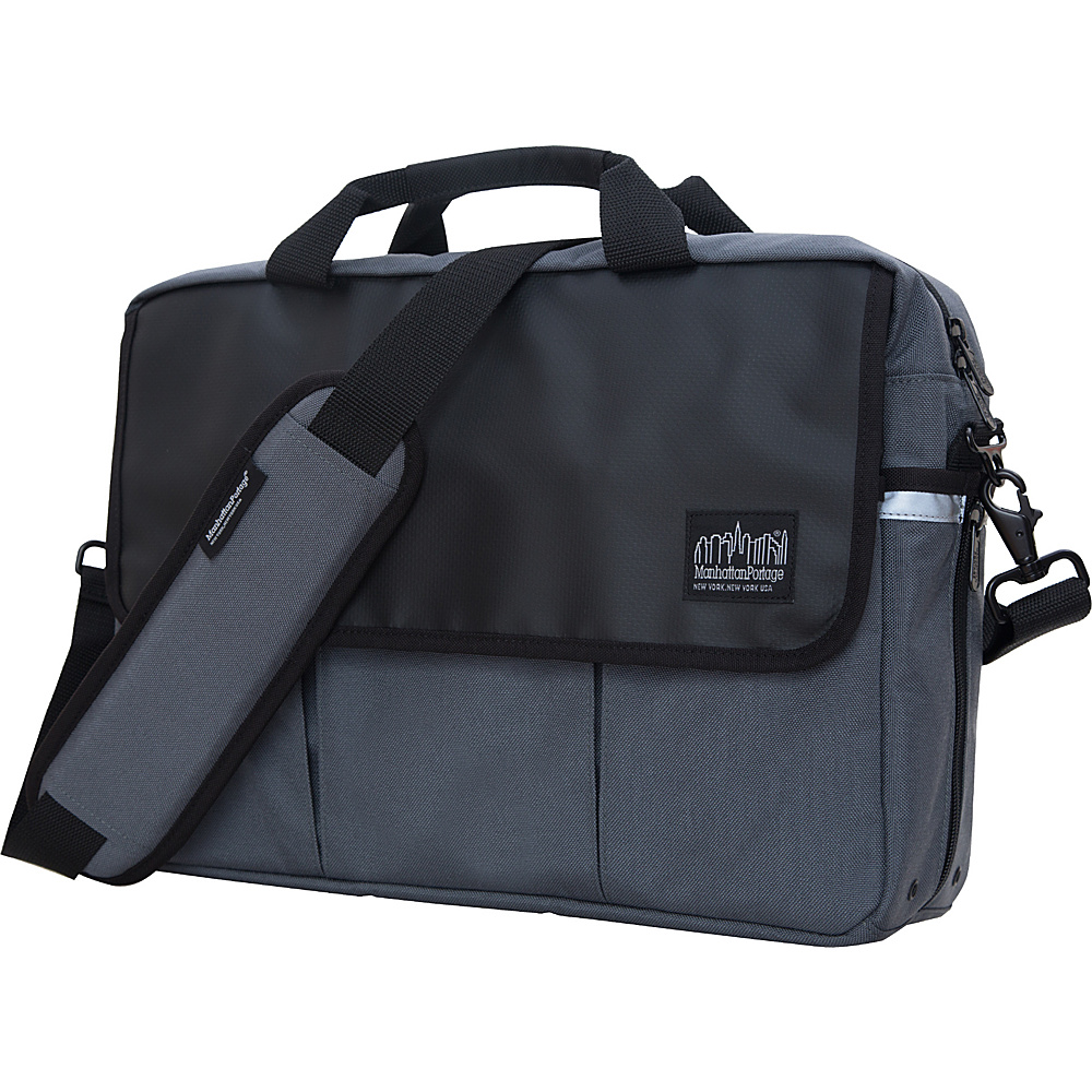 Manhattan Portage Webb Convertible Briefcase Gray Manhattan Portage Messenger Bags
