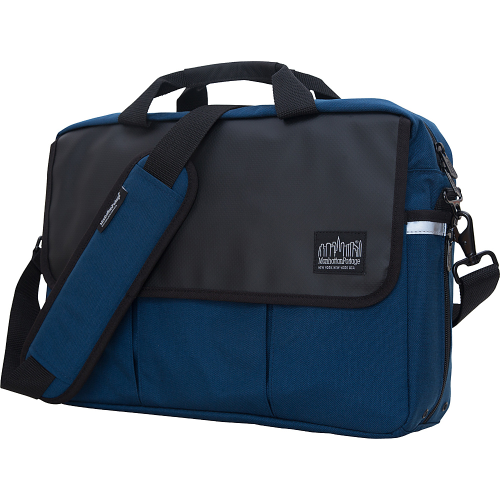 Manhattan Portage Webb Convertible Briefcase Navy - Manhattan Portage Messenger Bags - Work Bags & Briefcases, Messenger Bags