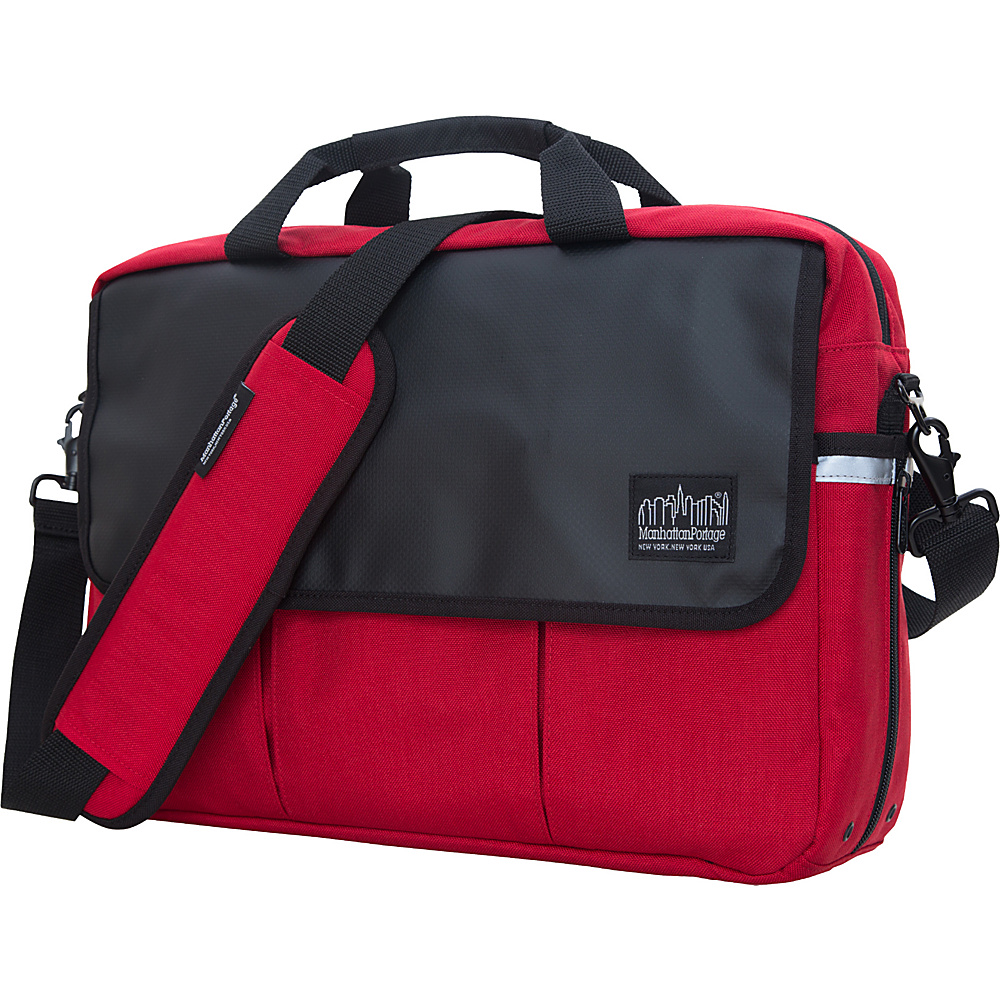 Manhattan Portage Webb Convertible Briefcase Red - Manhattan Portage Messenger Bags - Work Bags & Briefcases, Messenger Bags