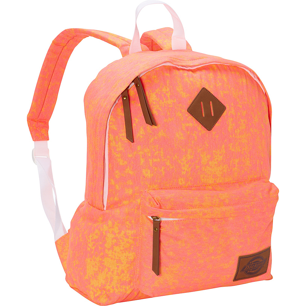 Dickies Canvas Backpack Two Tone Coral Orange Dickies Everyday Backpacks